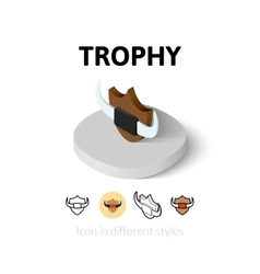 Trophy icon in different style vector