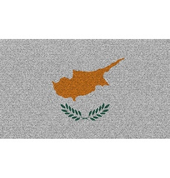 Flags cyprus on denim texture vector