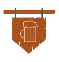 Street signboard of pub icon vector
