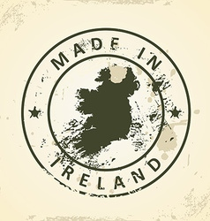 Stamp with map of ireland vector