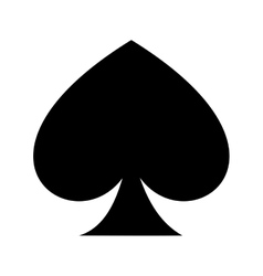 Ace of spades isolated icon design vector