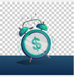 Alarm clock dollar vector