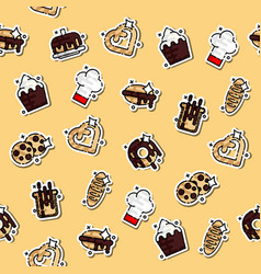 bakery icons set pattern vector image vector image
