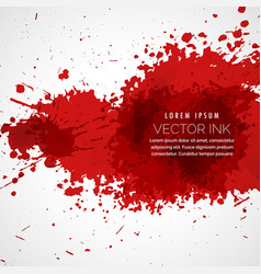 blood splatter stain background vector image