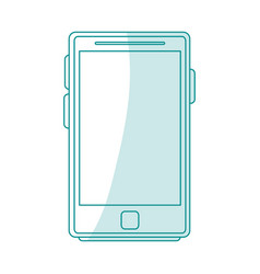 blue silhouette shading tablet tech device icon vector image vector image