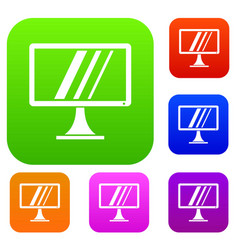 Computer monitor set collection vector