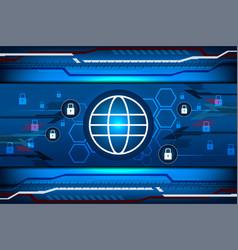 Cyber tech digital padlock vector