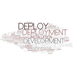 Deploy word cloud concept vector