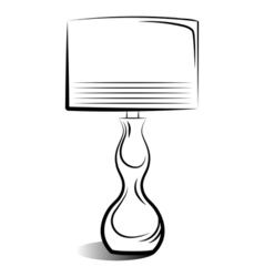 drawing of the lamp vector image