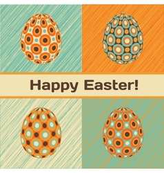 Easter card with eggs and banner vector image vector image