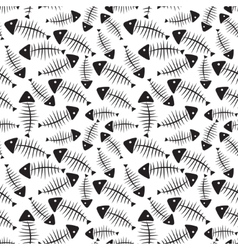 Fish bone seamless pattern background vector