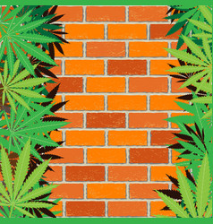 hemp and brick wall background vector image