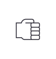 holding hand line icon sign vector image vector image