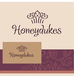Honeydukes Logo business card vector image