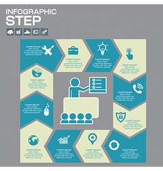 infographic presentation and chart vector image vector image