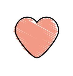 Pink heart love romantic symbol vector
