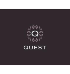 Premium monogram letter q initials logo universal vector