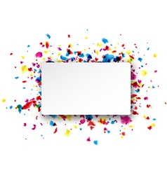 Rectangular background with drops vector image vector image