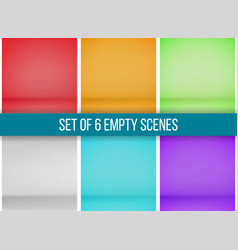 Set of 6 empty scenes vector