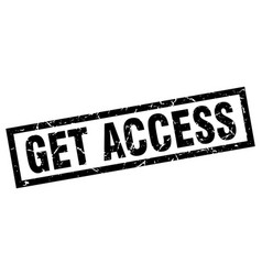 Square grunge black get access stamp vector