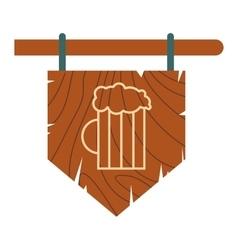 Street signboard of pub icon vector image vector image