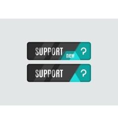 Support button futuristic hi-tech UI design vector image