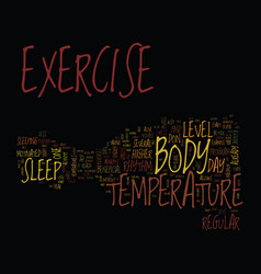 The effects of exercise on body temperature text vector