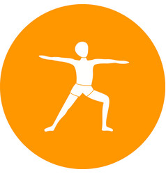 Warrior pose left vector