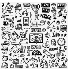Web doodles set vector image vector image