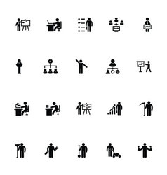 Working human icons 3 vector