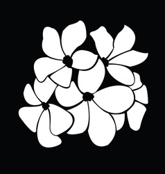 frangipani silhouettes for design vector image