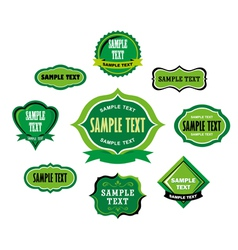 Vintage green label tags vector