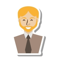 Businessman avatar elegant islated icon vector