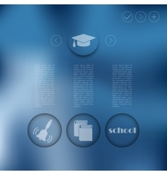 Education infographic with unfocused background vector