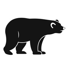 wild bear icon simple style vector image