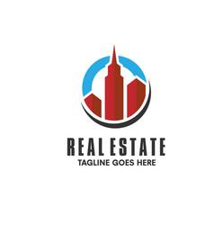 Real estate building logo vector