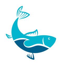 fish blue symbol vector image