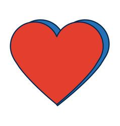 Orange heart healthy love feeling symbol icon vector
