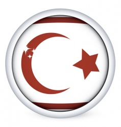 Northern cyprus flag button vector