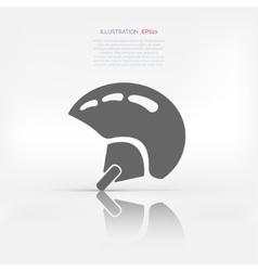 Skiing helmet icon vector