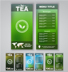 Blur menu tea vector