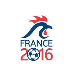 France 2016 europe football championships vector