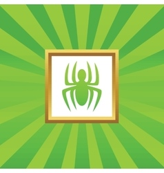 Spider picture icon vector