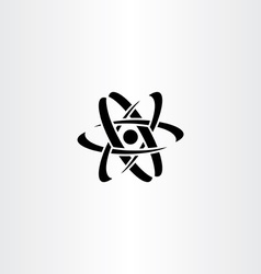 Black nucleus logo symbol icon vector