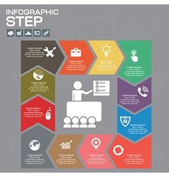 Infographic presentation and chart vector