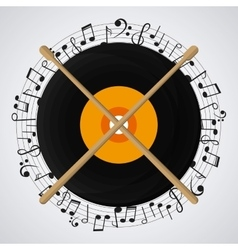 Vinyl icon design vector