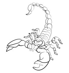 Hand drawn astrological zodiac sign Scorpion vector image