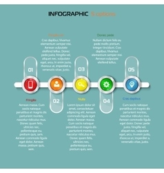 Structure timeline 5 steps horizontal infographic vector