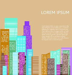 Abstract Skyline City vector image