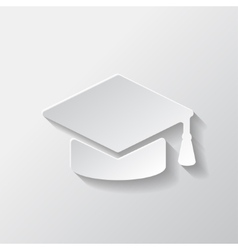Academic cap icon vector image